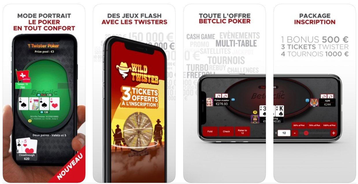 Application Betclic poker