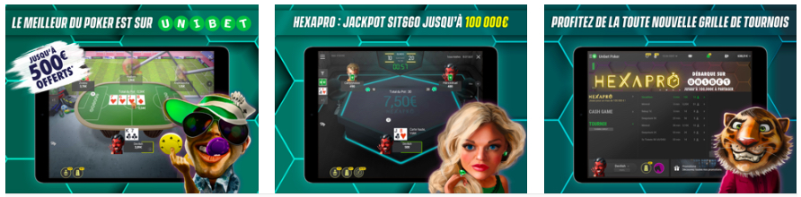 Mobile app Unibet poker
