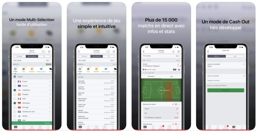 Appli iOS et Android PasinoBet