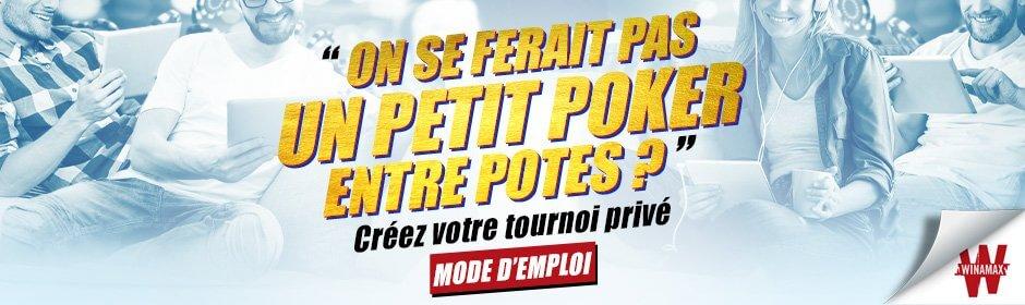 winamax poker privé