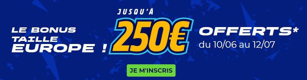 parions sport bonus euro